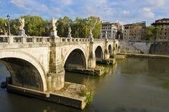 Ponte Sant'Angelo in Rome Stock Afbeelding