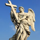 Ponte Sant Angelo, Rome Royalty Free Stock Photos