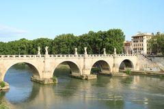 Ponte Sant´Angelo Royalty Free Stock Photography