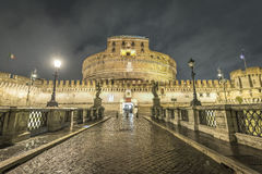 Ponte Sant Angelo, Vatican Royalty Free Stock Photo