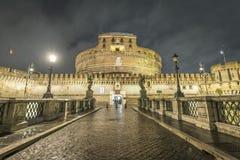 Ponte Sant Angelo, Vatican Photo libre de droits