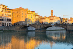 Ponte Santa Trinita à Florence Photos libres de droits