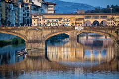Ponte Santa Trinita Bridge Florence Stock Photo