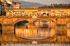 Ponte Santa Trinita Bridge Florence Stock Photos