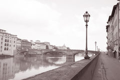 Ponte Santa Trinita Bridge and Lamppost, Florence Stock Images