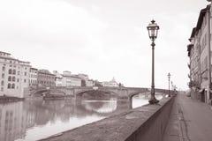 Ponte Santa Trinita Bridge and Lamppost, Florence Stock Images