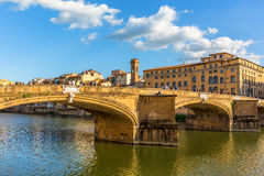 Ponte Santa Trinita bridge over the Arno Rive Royalty Free Stock Image