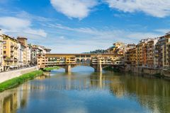 Ponte Santa Trinita bridge over the Arno River Stock Photo