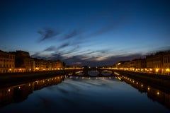 Ponte Santa Trinita, Florenz Stockbild