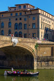 Ponte Santa Trinita i Florence Arkivbild