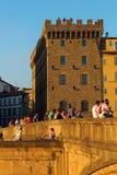Ponte Santa Trinita i Florence Arkivbilder