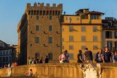 Ponte Santa Trinita i Florence, Italien Arkivfoton
