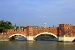Ponte Scaligero, Verona, Italy Royalty Free Stock Images