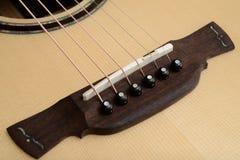 Ponte, sela e Pin da guitarra Fotografia de Stock