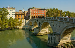 Ponte Sisto Brücke, Rom Stockbild