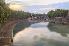 Ponte Sisto bridge in Rome Stock Image