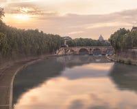 Ponte Sisto bridge in Rome Royalty Free Stock Photos