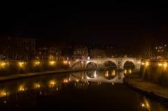Ponte Sisto at Night, Rome Royalty Free Stock Photos