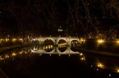 Ponte Sisto at Night, Rome Stock Photos