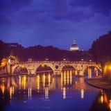 Ponte Sisto and St. Peter's basilica Stock Photos