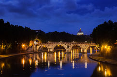 Ponte Sisto and St. Peter's basilica Royalty Free Stock Photography