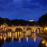 Ponte Sisto and St. Peter's basilica Royalty Free Stock Images