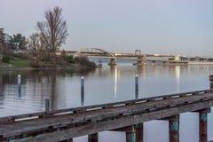 Ponte sobre a água 4 fotografia de stock royalty free