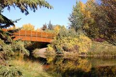 Ponte sobre a lagoa Foto de Stock Royalty Free