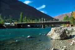 Ponte sobre o rio de Gunt Foto de Stock