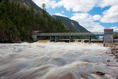 Ponte sobre o rio de Malbaie Imagem de Stock