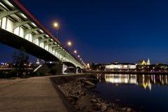 Ponte sobre o rio de Vistula Fotografia de Stock Royalty Free