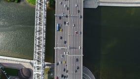 Ponte sobre o rio em Moscovo vídeos de arquivo