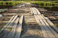 Ponte sobre o rio pequeno Foto de Stock