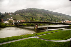 Ponte sobre o rio principal, Klingenberg Fotos de Stock Royalty Free