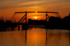 Ponte sobre o rio Ryck perto de Greifswald Foto de Stock Royalty Free
