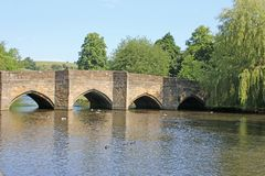 Ponte sobre o Wye do rio, Bakewell imagem de stock royalty free