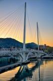 Ponte sopra acqua in La Spezia, Italia Fotografia Stock Libera da Diritti