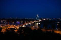 Ponte sopra Danubio a Bratislava Fotografia Stock