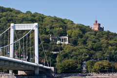 Ponte sopra Donau a Budapest immagine stock libera da diritti