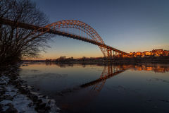 Ponte sopra Glomma in Fredrikstad, Norvegia fotografie stock libere da diritti