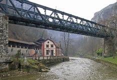 Ponte sopra il detinja del fiume in Uzice Fotografia Stock Libera da Diritti