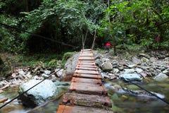 Ponte sopra il fiume Fotografia Stock Libera da Diritti