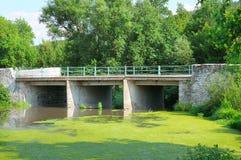 Ponte sopra il fiume Immagini Stock