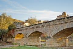 Ponte sopra il fiume in autunno. Immagini Stock