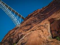 Ponte sopra il fiume Colorado Fotografia Stock