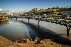 Ponte sopra il fiume del Duero, Oporto, Portogallo Immagini Stock Libere da Diritti