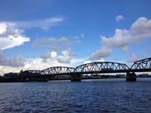 Ponte sopra il fiume di Chaopraya Fotografia Stock Libera da Diritti