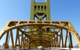 Ponte sopra il fiume Sacramento Fotografia Stock Libera da Diritti