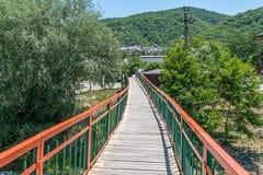 Ponte sopra il fiume Teshebs immagine stock libera da diritti