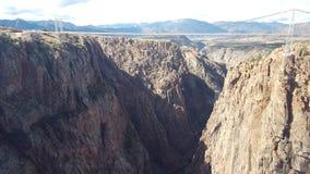 Ponte sopra la gola reale Colorado Immagine Stock Libera da Diritti